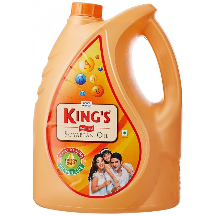 King's Refined Soyabean Oil 5 Liter (Can)