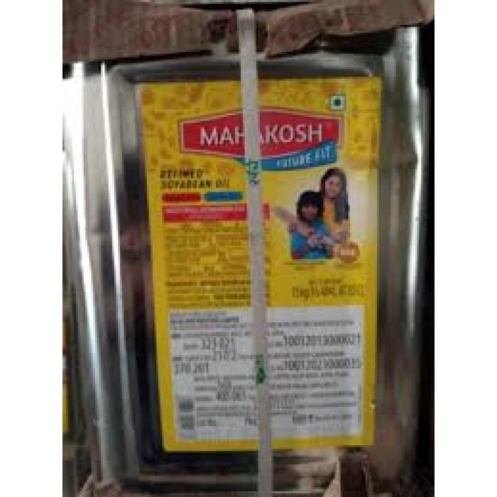Mahakosh Refined Soyabean Oil 15 kg (Tin)