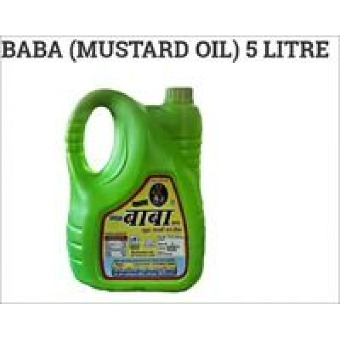 Baba Mustard/Sarson Oil 5 Liter Jar
